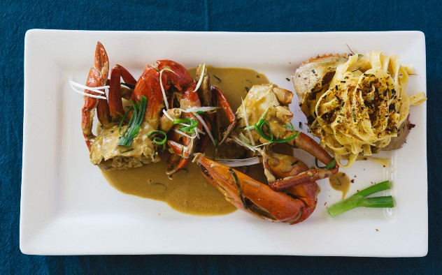 Crab w/ Oyster Sauce & Coconut Milk